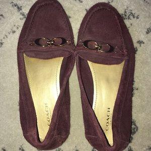 Coach Dark Purple Plum Slip On Flats size 6.5